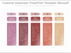 Customer Awareness Powerpoint Templates Microsoft