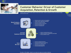 Customer Behavior Driver Of Customer Acquisition Retention And Growth Guidelines PDF
