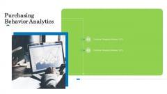 Customer Behavioral Data And Analytics Purchasing Behavior Analytics Brochure PDF