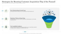 Customer Behavioral Data And Analytics Strategies For Boosting Customer Acquisition Top Of The Funnel Infographics PDF