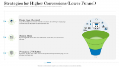 Customer Behavioral Data And Analytics Strategies For Higher Conversions Lower Funnel Icons PDF