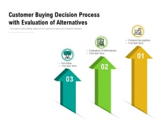 Customer Buying Decision Process With Evaluation Of Alternatives Ppt PowerPoint Presentation Inspiration Background Designs PDF
