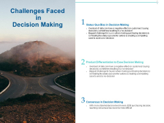 Customer Buying Judgment Process Challenges Faced In Decision Making Ppt PowerPoint Presentation Icon Infographics PDF