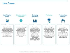 Customer Buying Judgment Process Use Cases Ppt PowerPoint Presentation Pictures Show PDF