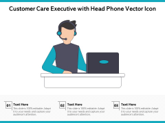 Customer Care Executive With Head Phone Vector Icon Ppt PowerPoint Presentation Gallery Pictures PDF
