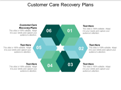 Customer Care Recovery Plans Ppt PowerPoint Presentation Show Graphics Tutorials Cpb