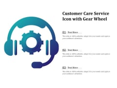 Customer Care Service Icon With Gear Wheel Ppt PowerPoint Presentation Ideas Inspiration PDF