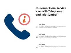 Customer Care Service Icon With Telephone And Info Symbol Ppt PowerPoint Presentation Inspiration Brochure PDF