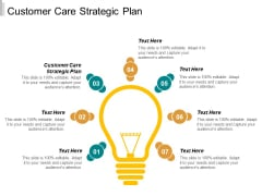Customer Care Strategic Plan Ppt PowerPoint Presentation Infographics Format Ideas Cpb