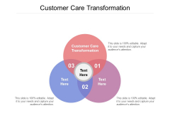 Customer Care Transformation Ppt PowerPoint Presentation Infographic Template Brochure Cpb Pdf