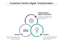 Customer Centric Digital Transformation Ppt PowerPoint Presentation Professional Inspiration Cpb