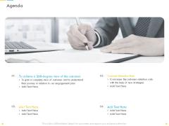 Customer Churn Prediction And Prevention Agenda Ppt Ideas Example PDF
