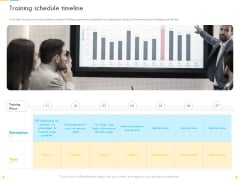Customer Churn Prediction And Prevention Training Schedule Timeline Ideas PDF