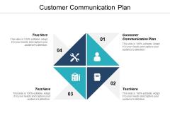 Customer Communication Plan Ppt PowerPoint Presentation Inspiration Topics Cpb
