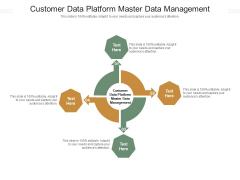 Customer Data Platform Master Data Management Ppt PowerPoint Presentation Slides Show Cpb Pdf