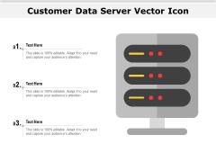 Customer Data Server Vector Icon Ppt PowerPoint Presentation Summary Show PDF