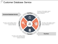 Customer Database Service Ppt PowerPoint Presentation Slides Graphics Download Cpb