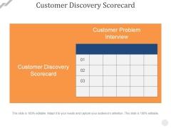 Customer Discovery Scorecard Ppt PowerPoint Presentation Model Smartart