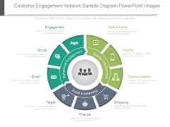 Customer Engagement Network Sample Diagram Powerpoint Images