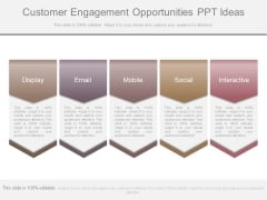 Customer Engagement Opportunities Ppt Ideas