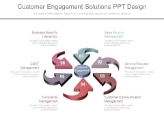 Customer Engagement Solutions Ppt Design