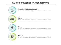 Customer Escalation Management Ppt PowerPoint Presentation Icon Show Cpb
