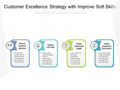 Customer Excellence Strategy With Improve Soft Skills Ppt PowerPoint Presentation Infographic Template Images PDF