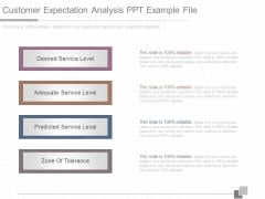 Customer Expectation Analysis Ppt Example File