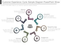 Customer Experience Cycle Sample Diagram Powerpoint Show