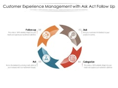 Customer Experience Management With Ask Act Follow Up Ppt PowerPoint Presentation Icon Graphics Example