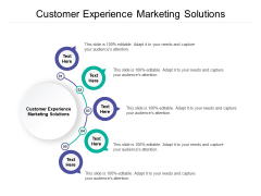 Customer Experience Marketing Solutions Ppt PowerPoint Presentation Diagram Templates Cpb