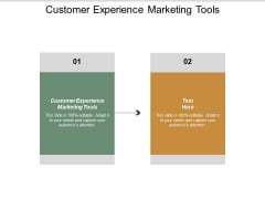 Customer Experience Marketing Tools Ppt PowerPoint Presentation Icon Example Cpb