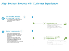 Customer Experience Process Align Business Process With Customer Experience Ppt Summary Graphic Tips PDF