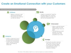 Customer Experience Process Create An Emotional Connection With Your Customers Ppt Infographic Template Picture PDF