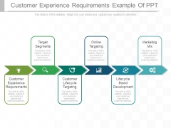 Customer Experience Requirements Example Of Ppt
