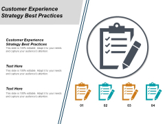 Customer Experience Strategy Best Practices Ppt PowerPoint Presentation Inspiration Infographics