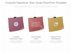 Customer Experience Team Quote Powerpoint Templates