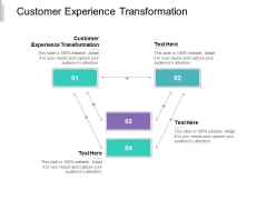 Customer Experience Transformation Ppt PowerPoint Presentation Gallery Inspiration Cpb