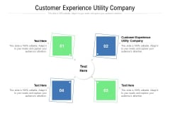 Customer Experience Utility Company Ppt PowerPoint Presentation Infographic Template Shapes Cpb Pdf