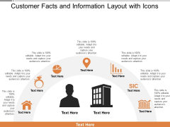 Customer Facts And Information Layout With Icons Ppt PowerPoint Presentation Gallery Pictures PDF