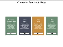Customer Feedback Ideas Ppt PowerPoint Presentation Pictures Inspiration Cpb