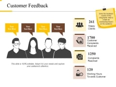 Customer Feedback Ppt PowerPoint Presentation Inspiration Elements
