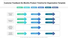 Customer Feedback Six Months Product Timeline For Organization Template Background