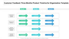 Customer Feedback Three Months Product Timeline For Organization Template Graphics