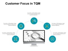 Customer Focus In Tqm Technology Ppt PowerPoint Presentation Ideas Show