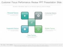Customer Focus Performance Review Ppt Presentation Slide