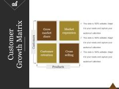 Customer Growth Matrix Ppt PowerPoint Presentation Clipart