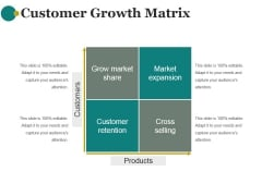 Customer Growth Matrix Ppt PowerPoint Presentation Ideas