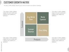 Customer Growth Matrix Ppt PowerPoint Presentation Slides