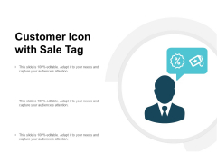 Customer Icon With Sale Tag Ppt PowerPoint Presentation Gallery Graphics Design